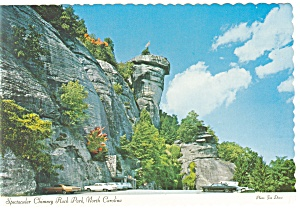 Chimney Rock Park NC Postcard cs0103 Old Cars (Image1)
