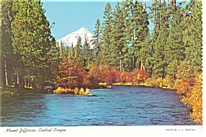 Mt Jefferson Oregon Postcard Cs0106