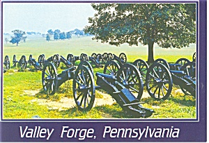 Valley Forge PA Lunette Cannon Emplacements Postcard cs0112 (Image1)