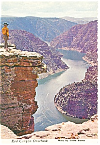 Red Canyon Overlook Utah Postcard cs0120 (Image1)