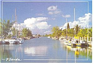 Florida Waterway Postcard cs0143 (Image1)