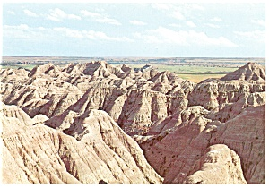 Banded Buttes,Badlands , SD Postcard (Image1)