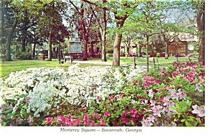 Monterey Square Savannah  GA Postcard cs0148 (Image1)