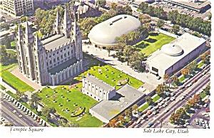 Temple Square Salt Lake City UT Postcard cs0154 (Image1)