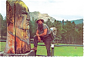 Korczak and Crazy Horse s Head SD Postcard cs0157 (Image1)