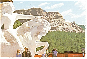 Crazy Horse Model On Visitor's Deck Sd Postcard Cs0160