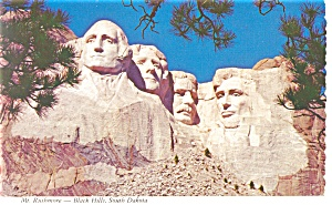 Mt Rushmore Black Hills SD Postcard cs0162 (Image1)