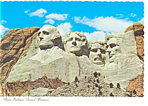 Mt Rushmore National Monument Black Hills Sd Postcard Cs0163