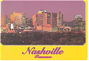 Skyline of Nashville TN Postcard cs0169 (Image1)
