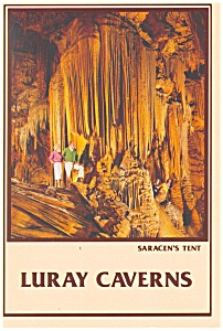 Luray Caverns Va Saracen S Tent Postcard Cs0175