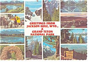Twelve Views of Jackson Hole WY Postcard cs0181 (Image1)