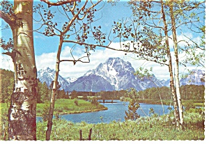 Mt Moran,Grand Teton National Park, WY Postcard (Image1)
