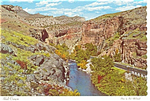 Rugged Cliffs in Shell Creek Canyon, WY Postcard (Image1)