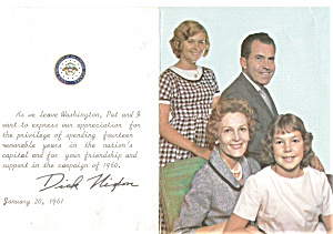 Vice President Nixon Farewell Photo Card 1960 (Image1)
