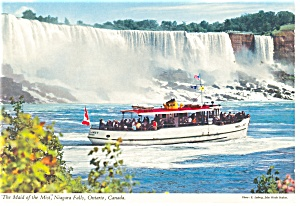 Maid of the Mist at Niagara Falls Postcard cs0257 (Image1)