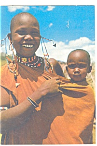 African Mother And Child Postcard Cs0267