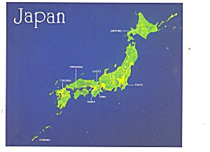 Japan Satellite View of the Islands Postcard (Image1)