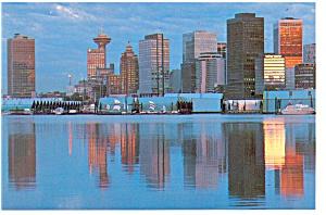 Vancouver BC Canada Skyline at Dusk Postcard cs0274 (Image1)