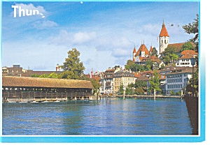 Thun Switzerland Castle and Church Postcard cs0308 (Image1)