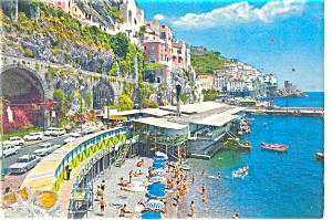 Marinell Beach Italy Postcard cs0311 (Image1)