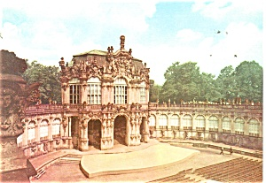 Dresden Germany Wall Pavilion in the Zwinger Postcard cs0312 (Image1)