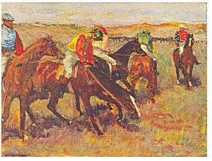 Before the Race Edgar Degas Postcard cs0322 (Image1)