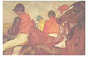 Horses with Jockeys Edgar Degas Postcard cs0324 (Image1)