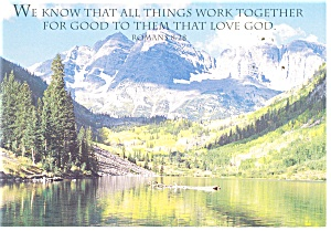 All Things Work Together, Romans 8:28 Postcard cs0329 (Image1)