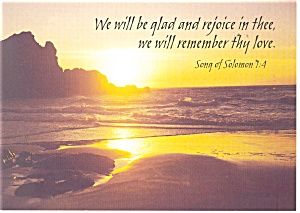 We will be glad and rejoice in thee. Postcard (Image1)