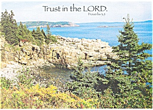 Trust in the Lord, Proverbs 3:5 Postcard cs0332 (Image1)