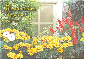 Bless the Lord O my Soul Psalm 103:1 Postcard cs0333 (Image1)