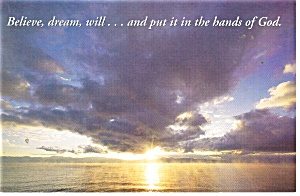 Believe,dream, will, Norman Vincent Peale Postcard (Image1)
