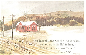 The Son of God is come, 1 John 5:20 Postcard (Image1)
