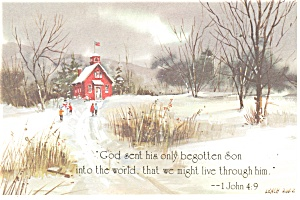 God sent his only begotten Son  1 John 4:9 Postcard (Image1)