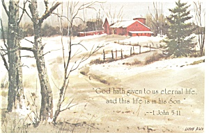 God hath given to us eternal life  1 John 5:11 Postcard (Image1)