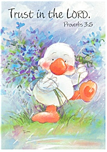 Trust in the Lord Proverbs 3:5 Postcard cs0343 (Image1)