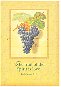 The fruit of the Spirit is love Galations 5:22 Postcard (Image1)