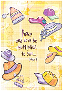 Peace and love be multiplied to you, Jude 1 Postcard cs0350 (Image1)