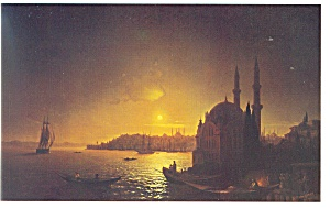 View of Constantinople by Moonlight Postcard cs0363 (Image1)