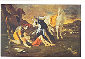 Tancred and Ermina Nicolas Poussin Postcard cs0371 (Image1)