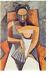 Woman with a Fan Pablo Ruiz Picasso Postcard cs0372 (Image1)
