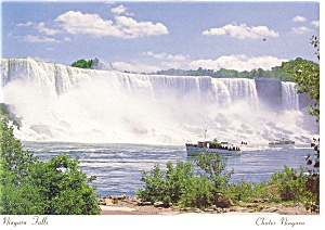 American Falls And Maid Of The Mist Postcard Cs0375