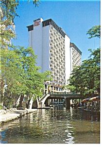 San Antonio TX Hilton Palacio del Rio Postcard cs0376 (Image1)