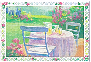 Lemonade for Two, Artwork Postcard cs0394 (Image1)