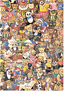 Teddies Kingdom, Teddy Bear Collage Postcard (Image1)
