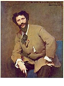 Portrait of Carolus Duran John Sargent Postcard cs0399 (Image1)