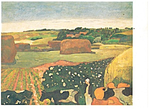 Haystacks in Brittany Paul Gauguin Postcard cs0401 (Image1)