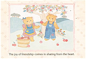 Teddy Bears Picking Apples Postcard Gal 5:12 (Image1)