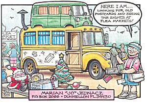 Flea Market Post Card Vendor Postcard cs0415 (Image1)