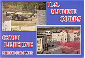 Camp Lejeune US Marine Corps Postcard cs0421 (Image1)